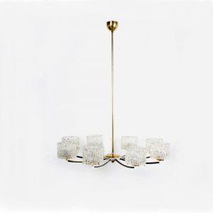 Orrefors design chandelier lamp Sweden