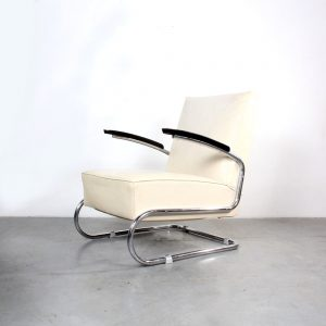 Thonet S411 arm lounge chair Bauhaus design