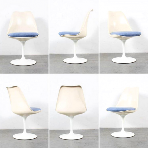 Tulip chairs design Saarinen Knoll retro