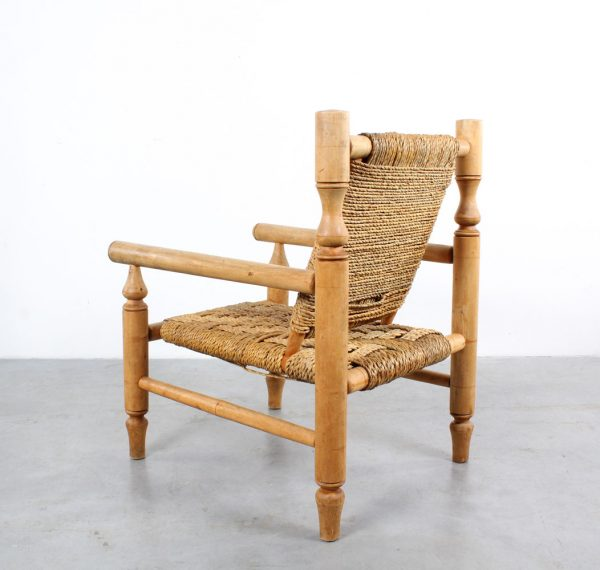 French rope chair design Audoux Minet
