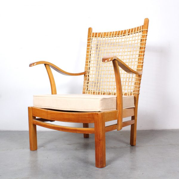 Dutch design fifties chair rope