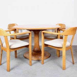Oak dining table chairs Danish design
