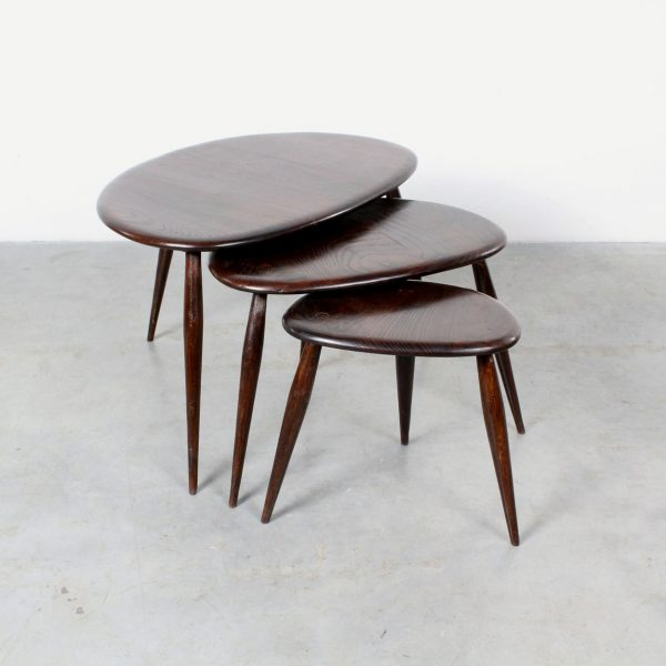 Ercol nesting tables Pebble