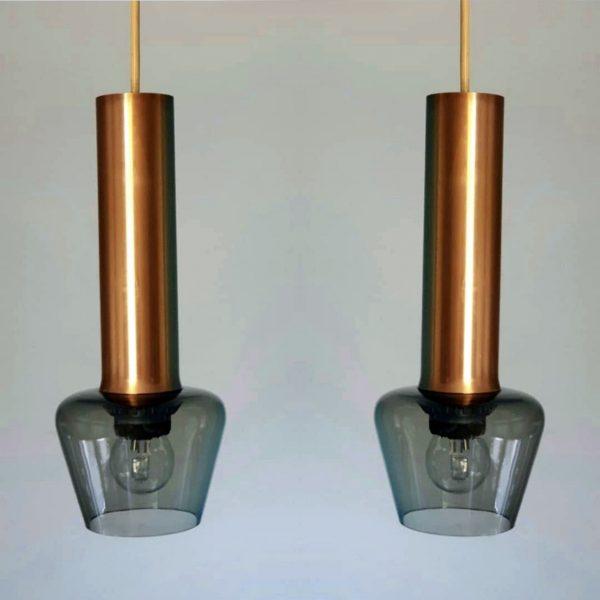 Raak Amsterdam ceiling lamp brass glass