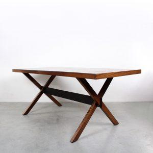 Vintage Dutch deign dining table wengé